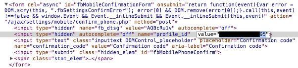 کد ارسالی به صفحه گفته شده