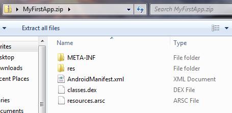 محتویات فایل apk