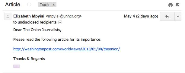 ایمیل جعلی