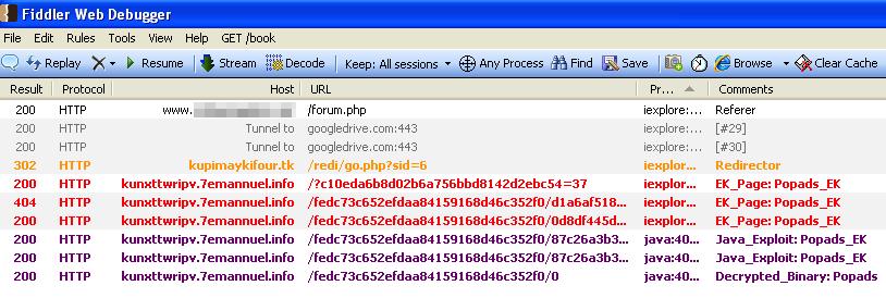استفاده از ابزار فیدلر برای دنبال کردن مسیر هک
