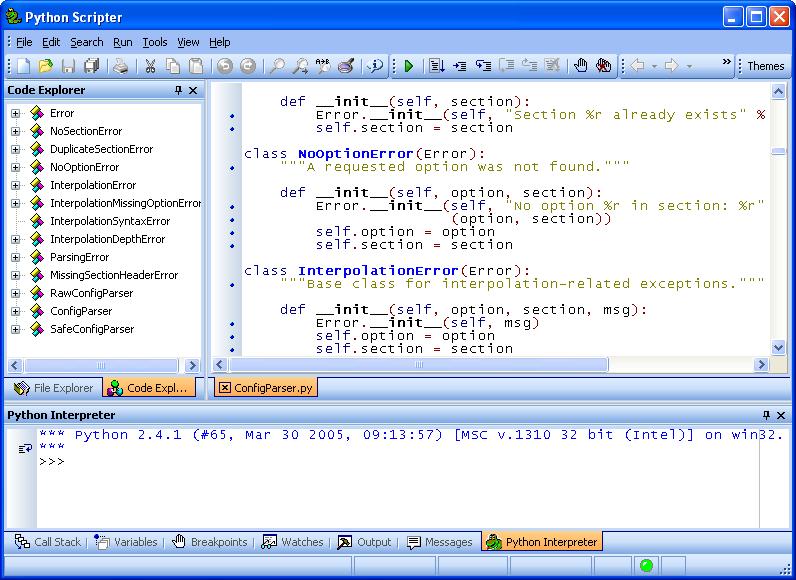 pyscripter_screenshot1