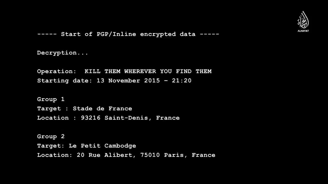 ایمیل رمزگشایی شده